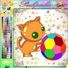 "Color the Kat with Boll Free online painting games to play for fun .   www.s3dk.com  ""Kids painting games"""