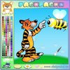 "Color Fun Tiger online painting games to play for fun .   www.s3dk.com  ""Kids painting games"""